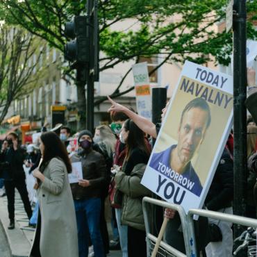 Как прошла акция в поддержку Алексея Навального в Лондоне