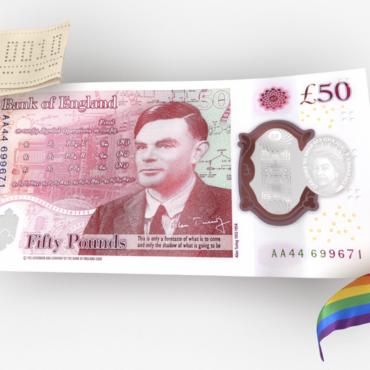 В Англии поступили в обращение 50-фунтовые купюры с изображением Алана Тьюринга