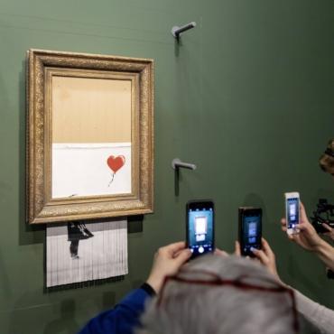 Самоуничтожившаяся и после этого сильно подорожавшая картина Бэнкси вновь возвращается на торги Sotheby's